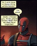 breaking_the_fourth_wall collar comic costume deadpool english_text human low_res male mammal marvel mask meta not_furry solo text unknown_artist