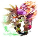 2012 anthro black_nose blaze_the_cat boots clothed clothing duo eyes_closed feline female fire footwear fur gem gloves hanybe hedgehog hug male mammal open_mouth ponytail purple_fur signature silver_the_hedgehog sonic_(series) video_games white_fur yellow_eyes  Rating: Safe Score: 4 User: Cαnε751 Date: June 12, 2015