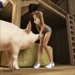 "3d barn black_hair boar caress chubby clothing duo farm female feral hair hay human mammal porcine short_hair shorts sneakers spaghetti_top vaesark  Rating: Safe Score: 9 User: lilicalover Date: May 16, 2014"""