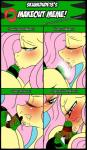 2015 anthro blush digitaldomain123 equine fan_character female feral fluttershy_(mlp) french_kissing friendship_is_magic horse kissing lizard male mammal messy my_little_pony pony reptile scalie skunkdude13  Rating: Questionable Score: 2 User: Osck Date: October 05, 2015