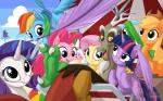 2015 applejack_(mlp) blue_feathers blue_fur discord_(mlp) draconequus dragon earth_pony equine feathers female feral fluttershy_(mlp) friendship_is_magic fur group horn horse male mammal my_little_pony mysticalpha pegasus pinkie_pie_(mlp) pony rainbow_dash_(mlp) rarity_(mlp) spike_(mlp) twilight_sparkle_(mlp) unicorn winged_unicorn wings  Rating: Safe Score: 12 User: Robinebra Date: November 07, 2015