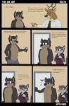2013 anthro canine cat cervine clothed clothing comic deer doberman dog duncan_(character) english_text feline fur jerry_(character) male mammal open_mouth rotten_robbie school smile text   Rating: Safe  Score: 3  User: W3r3gam3r  Date: February 24, 2015