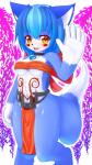 anthro blue_fur blue_hair breasts brown_eyes cat clothing feline female fundoshi fur hair japanese_clothing kemono mammal solo underwear young しゅね  Rating: Questionable Score: 8 User: GONE_FOREVER Date: April 29, 2015