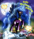 bat costume equine female feral friendship_is_magic ghost horn jack_o'_lantern magic mammal moon my_little_pony night princess_luna_(mlp) pumpkin shadowbolts_(mlp) spirit stars winged_unicorn wings ziemniax   Rating: Safe  Score: 12  User: Jatix  Date: October 31, 2013