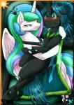 2015 blush changeling duo equine female feral friendship_is_magic hi_res horn hug mammal my_little_pony princess_celestia_(mlp) queen_chrysalis_(mlp) vavacung winged_unicorn wings  Rating: Safe Score: 14 User: Robinebra Date: February 21, 2015