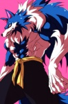 """abs anthro belt biceps big_muscles black_nose blue_fur blue_hair canine chest_tuft clothed clothing darkstalkers fangs fur hair half-dressed jon_talbain male mammal muscles pants pecs pink_background plain_background pose solo standing teeth toned topless tuft unknown_artist video_games were werewolf white_fur white_hair wolf yellow_eyes  Rating: Safe Score: 2 User: drafan5 Date: May 12, 2013"""""""