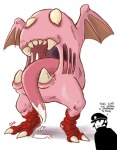crossover devil_summoner english_text kirby kirby_(series) kuzunoha_raidou long_tongue monster nightmare_fuel nintendo solo text tongue video_games what wings  Rating: Safe Score: 1 User: Juni221 Date: July 31, 2015