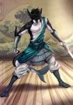 2016 alanscampos anthro armor bandage black_hair black_skin clothed clothing detailed_background english_text fin fish footwear grey_eyes hair japanese_text looking_at_viewer male marine melee_weapon shark signature solo sword text toga translation_request water weapon white_skin  Rating: Safe Score: 11 User: GameManiac Date: March 22, 2016