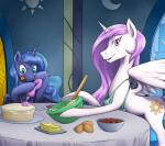 2015 baking duo equine female feral friendship_is_magic horn mammal my_little_pony nauthleroy princess_celestia_(mlp) princess_luna_(mlp) winged_unicorn wings  Rating: Safe Score: 8 User: Robinebra Date: August 18, 2015