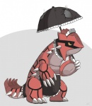 2012 ambiguous_gender groudon happycrumble legendary_pokémon maid maid_uniform nintendo pokémon solo umbrella uniform video_games   Rating: Safe  Score: 4  User: cookiekangaroo  Date: March 01, 2012