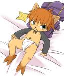 barefoot bed blush clothed clothing cub digital_media_(artwork) discarded_clothing embarrassed fundoshi grumpy half-dressed high-angle_shot kennen league_of_legends looking_away lying male manmosu_marimo navel ninja nipples on_back on_bed shuriken solo underwear video_games yordle young  Rating: Questionable Score: 1 User: Circeus Date: September 28, 2015
