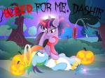 2015 absurd_res bat_pony bedroom_eyes blue_fur bush costume duo english_text equine fangs female feral friendship_is_magic fur grass hair half-closed_eyes halloween hi_res holidays horn jack_o'_lantern lying magic mammal membranous_wings moon multicolored_hair my_little_pony night nightmaremoons on_back outside pegasus pumpkin purple_fur purple_hair rainbow_dash_(mlp) rainbow_hair scared seductive sky smile star text tree twilight_sparkle_(mlp) whip wings  Rating: Questionable Score: 5 User: ConsciousDonkey Date: February 27, 2016