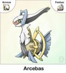 absurd_res ambiguous_gender arceus feebas feral fusion hi_res legendary_pokémon nintendo pokémon simple_background twime777 video_games white_background