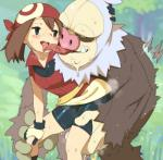 2=8 bandanna bestiality bike_shorts blue_eyes blue_sky blush breasts brown_hair clothed clothed_sex clothing covered_nipples day fangs female female_on_feral feral from_behind_position gloves hair half-closed_eyes heavy_breathing human human_on_feral interspecies leg_grab licking mammal may_(pokémon) nintendo open_mouth outside pokémon pokémon_(species) poképhilia pussy_juice pussy_juice_trail saliva saliva_string sex short_hair short_sleeves shorts sky slaking small_breasts smile sweat tongue tongue_out tree video_games wide_hips wristbandRating: ExplicitScore: 12User: DodudoruDate: March 26, 2018