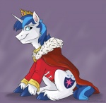 2015 blue_eyes blue_hair clothing crown equine friendship_is_magic gold_(metal) hair horn male mammal my_little_pony portrait robe shining_armor_(mlp) sitting solo sophiecabra unicorn  Rating: Safe Score: 8 User: 2DUK Date: September 25, 2015