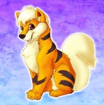 ambiguous_gender canine feral growlithe mammal nintendo pokémon solo stripes unknown_artist video_games