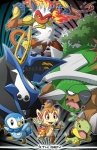 ambiguous_gender chimchar empoleon fire group infernape nintendo piplup pokémon torterra turtwig ununununium video_games  Rating: Safe Score: 6 User: Daniruu Date: December 22, 2011