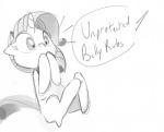 dialogue english_text equine female feral friendship_is_magic greyscale hair horn mammal monochrome my_little_pony rarity_(mlp) simple_background sketch solo surprise tess-27 text unicorn white_background  Rating: Safe Score: 6 User: SlayerBVC Date: February 11, 2016