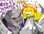<3 ambiguous_gender angry bear care_bears decepticon dialogue duo english_text fur gesture hat humor japanese_text machine mammal megatron open_mouth red_eyes robot text transformers transformers_prime translation_request unknown_artist v_sign yellow_fur  Rating: Safe Score: 3 User: shadey Date: November 27, 2012