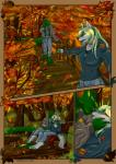 2015 absurd_res anthro autumn bench branch breasts bridge canine clothed clothing collar comic couple digital_media_(artwork) duo female fur grass green_fur green_hair green_scales hair hi_res hoodie iguana jeans kissing leaves lizard love male mammal multicolored_fur multicolored_hair outside pants reptile scales scalie shiarah sitting tree two_tone_fur two_tone_hair warm_colors white_fur white_hair wolf  Rating: Safe Score: 2 User: ShiarahSilver Date: December 28, 2015