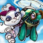 2015 blue_eyes bow cat duo eyeshadow eyewear feline female feral friendship_is_magic goggles karol_pawlinski looking_at_viewer makeup mammal my_little_pony opalescence_(mlp) outside reptile scalie tank_(mlp) turtle  Rating: Safe Score: 2 User: lemongrab Date: July 31, 2015