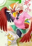 avian beak bird braviary claws edmol female nintendo pokémon skirt text transformation video_games   Rating: Safe  Score: 1  User: TheDigiFurFan  Date: March 22, 2014