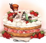 ambiguous_gender barefoot cake food humanoid joltik_(artist) legendary_pokémon meloetta micro nintendo pokémon strawberry video_games  Rating: Safe Score: 10 User: Juni221 Date: August 16, 2013