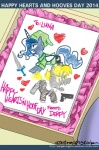 2014 <3 blonde_hair blue_fur blue_hair cutie_mark derpy_hooves_(mlp) duo english_text equine female feral friendship_is_magic fur grey_fur hair holidays horn john_joseco mammal my_little_pony pegasus princess_luna_(mlp) text valentine's_day winged_unicorn wings   Rating: Safe  Score: 9  User: Robinebra  Date: February 14, 2014