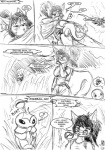 black_and_white blush canine charmander clothed clothing comic death dialog english_text eyewear female glasses hybrid insect kakuna monochrome nintendo piercing pokémon reptile rodent s'zira s-nina scalie squirrel text video_games wolf   Rating: Safe  Score: 3  User: NotMeNotYou  Date: March 19, 2013