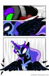 2014 angry black_fur black_hair charging comic crown donzatch equine female fight friendship_is_magic fur glowing_eyes hair helmet horn horse king_sombra_(mlp) magic male mammal my_little_pony nightmare_moon_(mlp) pony unicorn winged_unicorn wings   Rating: Safe  Score: 1  User: EurynomeEclipseVII  Date: April 09, 2014
