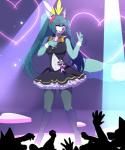 2018 <3 anthro blue_eyes blue_fur bow_tie breasts canine clothing cosplay crossgender dress female fox fur fur_markings hair hatsune_miku here-kitty--kitty holding_object legwear long_hair looking_at_viewer mammal markings microphone one_eye_closed open_mouth pigtails roflfox singing solo standing stockings v_sign vocaloid white_fur wink wrist_cuffRating: SafeScore: 0User: RMTP3Date: May 24, 2018