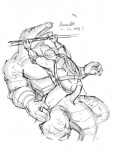 alligator anthro donatello_(tmnt) duo erection leatherhead male male/male penis reptile ruran scalie teenage_mutant_ninja_turtles turtle  Rating: Explicit Score: 6 User: Pokelova Date: July 01, 2015""