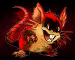 ambiguous_gender claws cute feral looking_at_viewer mammal nintendo pokémon pokémon_(species) raticate rodent simple_background smile solo standing the-chu tongue video_games whiskers