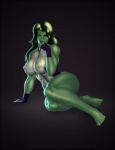 black_hair bodysuit breasts clothing female green_skin hair humanoid looking_at_viewer marvel muscular muscular_female nipples pose she-hulk skinsuit solo tridark  Rating: Questionable Score: 16 User: FwP Date: October 11, 2013