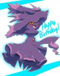 absurd_res ambiguous_gender blush full_body happy happy_birthday hi_res invalid_tag looking_at_viewer mismagius nintendo open_mouth pokémon pokémon_(species) red_eyes simple_background smile solo sotone text video_games white_background yellow_scleraRating: SafeScore: 4User: ZapdosDate: January 09, 2018