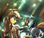 2017 applejack_(mlp) duo equine female flirting friendship_is_magic horse light262 mammal my_little_pony pegasus pony rainbow_dash_(mlp) wingsRating: SafeScore: 1User: 2DUKDate: April 30, 2017