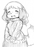 animal_crossing anthro eyes_closed female hair isabelle_(animal_crossing) kemono long_hair monochrome nintendo open_mouth setouchi_kurage solo video_games  Rating: Safe Score: 3 User: GONE_FOREVER Date: July 21, 2015