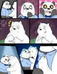 2015 anthro anus bear black_fur blush bow_tie clothing comic cute dialogue duo english_text fur graft_(artist) ice_bear kissing male male/male mammal multicolored_fur panda panda_(character) polar_bear smile surprise text two_tone_fur we_bare_bears white_fur  Rating: Questionable Score: 8 User: zidanes123 Date: October 09, 2015