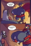 ! anthro avian belt big_breasts bird breasts busty_bird canine comic couple dialogue digital_media_(artwork) english_text female fox huge_breasts jaeh male mammal mask messy panel superhero tamati text   Rating: Questionable  Score: 6  User: misspriss  Date: April 21, 2012