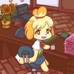 animal_crossing anthro black_nose blonde_hair canine clothing desk dog dress female flower fur hair hair_ornament isabelle_(animal_crossing) mammal nintendo open_mouth paper planet plant short_hair solo uniform unknown_artist video_games white_fur yellow_fur  Rating: Safe Score: 7 User: Cαnε751 Date: November 10, 2015