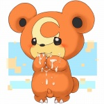 2014 anthro balls barefoot bear blush claws cum cum_on_face cum_on_hand cum_on_stomach cute erection fur happy male mammal messy nintendo nude orgasm penis pokémon raised_arm round_ears smile solo standing teddiursa toe_claws unknown_artist video_games   Rating: Explicit  Score: 3  User: forkU  Date: April 14, 2014
