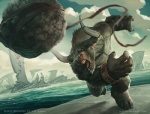 2010 action_pose angry anthro armband beads black_nails bovine bracelet cloud cloven_hooves fight hooves horn jason_chan jewelry lacing magic_the_gathering male mammal minotaur official_art open_mouth outside sea sky slingshot solo throwing water wizards_of_the_coast  Rating: Safe Score: 5 User: Linnefer Date: August 03, 2013