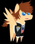 alpha_channel bbbff blue_eyes bottomless brown_hair brown_tail clothed clothing crossover cutie_mark equine feathered_wings feathers feral foreshadowart fur furgonomics hair jacket jewelry kingdom_hearts male mammal my_little_pony necklace open_mouth open_smile pegasus side_view simple_background smile solo sora_(kingdom_hearts) square_enix standing tan_fur tongue tongue_out transparent_background video_games wings