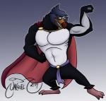 abs anthro beak belt biceps big_muscles black_body cape clothing drake_the_penguin feathers flexing male muscles pecs solo standing teeth the_pebble_and_the_penguin toned white_body  Rating: Safe Score: 2 User: Enthusiast Date: July 08, 2015