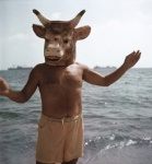 1968 anthro beach bovine cattle clothed clothing fursuit half-dressed horn human male mammal minotaur not_furry outside pablo_picasso raised_arm real sea seaside solo topless water what   Rating: Safe  Score: -1  User: OverNinerTripleZero  Date: February 27, 2013