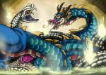 2015 animal_genitalia blue_scales chinese_dragon cloaca dragon duo erection female feral horn male muramasa:_the_demon_blade open_mouth penetration penis red_eyes reptile scalie sex snake syrinoth video_games white_scales yellow_eyes   Rating: Explicit  Score: 5  User: e17en  Date: April 20, 2015