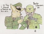 absurd_res anthro army canine cup duo erwin_rommel fennec fox general germany hat hi_res male mammal medals soldier world_war_2   Rating: Safe  Score: 5  User: Erwin_Rommelish  Date: August 02, 2012