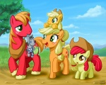 2014 amber_eyes apple_bloom_(mlp) applejack_(mlp) big_macintosh_(mlp) blush brother cloud cowboy_hat cutie_mark earth_pony equine female feral freckles friendship_is_magic fur green_eyes group hair hat horse male mammal my_little_pony open_mouth orange_fur outside plushie pony red_fur sibling sister sky smartypants_(mlp) standing uotapo yellow_fur  Rating: Safe Score: 20 User: 2DUK Date: September 05, 2014