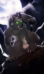 anthro balls biceps black_claws black_nose canine claws cloud fangs fur glowing glowing_eyes green_eyes grey_fur looking_at_viewer male mammal moon muscles night no_swift nude pawpads paws pecs saliva sheath sky solo teeth were werewolf wolf yellow_eyes   Rating: Explicit  Score: 16  User: Der_Traubenfuchs  Date: February 14, 2013