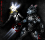 anthro armor dead_space dragonofdarkness13 duo feline female lynx male mammal parody plasma_cutter suit video_games weapon  Rating: Safe Score: 5 User: dragonofdarkness13 Date: October 21, 2011